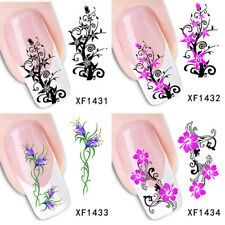 EP_ Floral Flowers Pattern Nail Art Sticker Water Transfer DIY Manicure Tool Ser