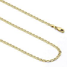 """Men's 10K Yellow Gold 2.5MM-10.5MM Mariner Link Chain Bracelet 7""""-9"""" Inches"""