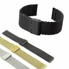 Stainless Steel Mesh Solid Watch Strap Bracelet Replacement Band 18 20 22 24 mm