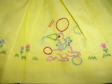 VNT. TODDLER DRESS~ADORABLE EMBROIDERED SEALS PLAYING BALL~SZ. 3 THREE FAIRIES