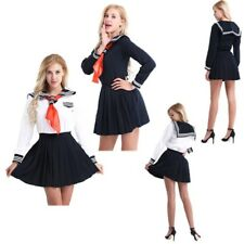 Women's School Girl Students Sailor Uniform Anime Fancy Dress Up Party Costumes