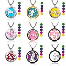 New Aromatherapy Essential Oil Diffuser Necklace Stainless Steel Locket Pendant