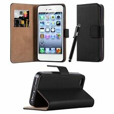 Leather Wallet Flip Book Card Case Cover Pouch For Apple iPhone 5 / 5S / SE