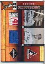 2005 LEAF LIMITED LUMBERJACKS  ERNIE BANKS/BILLY WILLIAMS LAUNDRY TAG 2/5 S3162