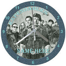 Expendables Cd Clock, Personalised, Free Stand, Gift Box, Birthday, Novelty,
