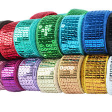 Sequins Ribbon Lace Wide 5-rows Square Clothes Costume Craft Garments Decoration