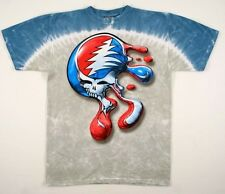 GRATEFUL DEAD-SYF DRIP MELTING-STEAL YOUR FACE-2 SIDED TIE DYE-GARCIA M-L-XL