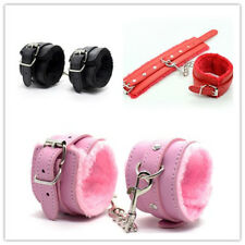 Handcuffs Up Furry Fuzzy Sexy Slave Hand Ring Ankle Cuffs Restraint Bed Toys
