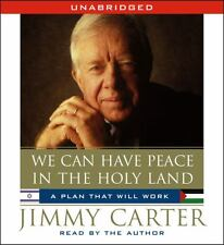 AUDIOBOOK CD Jimmy Carter Current Events WE CAN HAVE PEACE IN THE HOLY LAND