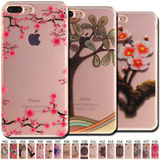 Painted TPU Slim Case Skin Cover Clear Soft Back For Apple iPhone 7 Plus/8 Plus