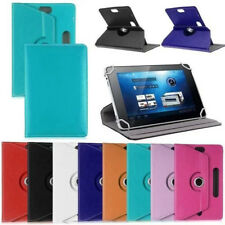 360 Rotating Folio Leather Case Cover For Universal Android Tablet PC 7 8 9 10.1
