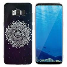 Case Cover For Samsung Galaxy S6 S7 Edge S8 S9 Plus Black Abstract Roses Design
