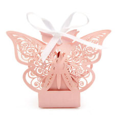 10 Pcs Butterfly Lace Hollow Out Paper Candy Boxes Wedding Favors Sweets Bags