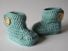 Baby Handmade Knitted Crochet Booties Shoes / 0-3 & 3-6 months