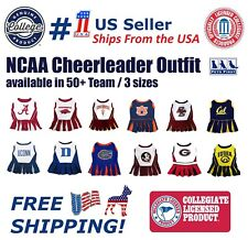 Pets First NCAA Licensed Cheerleader Outfit for Dogs and Cats. 50+ Team 3 Sizes.