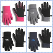 NEW North Face Unisex Youth/Jr Gloves Gray Etip E-Tip Tech Lightweight Lined