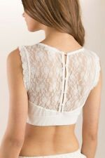 NEW Boho Trendy Chic Button Back Lace Bralette - Ivory by POL Clothing Size S-L