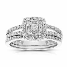 1/2 CT Diamond  Wedding Engagement Ring Set 14K Gold