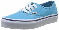 Vans Kids Authentic (Glitter Textile) Skate Shoe, Cyan Blue/True White