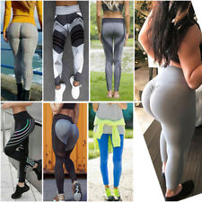 Womens Yoga Pants Leggings Workout Gym Fitness Sports Athletic Running High P84
