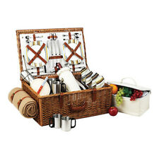 Picnic at Ascot Unisex  Dorset Basket for Four with Coffee Set and Blanket