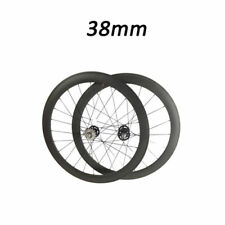 700C 38mm Depth Tubular New Track Fixed Carbon Road Bike Bicycle Racing Wheelset