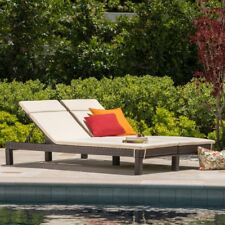 Best Selling Home Argo Outdoor Wicker Double Chaise Lounge with Cushions