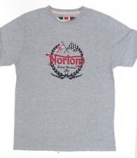 LIMITED Genuine Norton Grey 'Victory' T-Shirt Official Merchandise