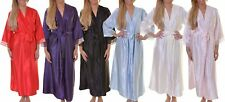 BNWT Elegant, Short Silky Wrap Robe with Lace Detailing to Sleeves and Neckline