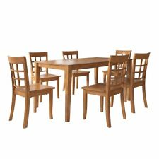 Weston Home Lexington 7 Piece Dining Set with Window Back Chairs