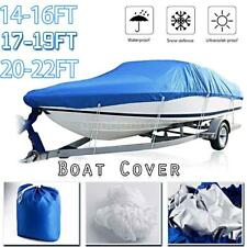 Boat Cover Waterproof Silver Reflective Fits V-HULL TRI-HULL Fishing Boat Z2E1
