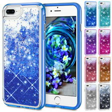 Glitter Liquid Sparkle Floating Beads Crystal Case Cover For iPhone X 6 7 8 Plus
