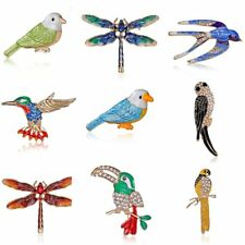 Fashion Crystal Bird Swallow Dragonfly Animal Brooch Pin Women Jewelry