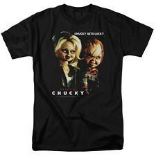 BRIDE OF CHUCKY Chucky Gets Lucky Childs Play Horror Movie Adult T-Shirt SM-6XL