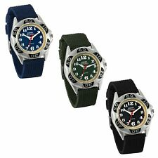 Military Army Men's Nylon Canvas Strap Sport Quartz Analog Wrist Watch Watches