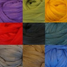 Silk - Merino Wool 2 oz Dyed Top Roving, Sliver, Spin into yarn or Felt