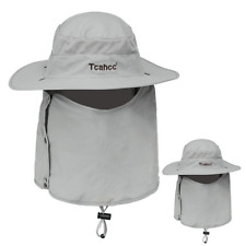 Unisex Fishing Boonie Hat Large Flap Hiking Sun Protection Hat Neck Cover Visor