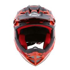 Orange Motorcycle Dirt Bike Riding Full Face Sports Helmet CE Approved