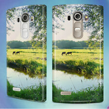 LANDSCAPE WATER MEADOW GREEN HARD BACK CASE COVER FOR LG PHONES