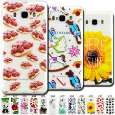 For Samsung Galaxy J5(2016) Soft Silicone Painted TPU Skin Case Cover Clear Back