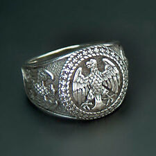 German Eagle 925 Sterling Silver ring Bundesadler with Iron Cross