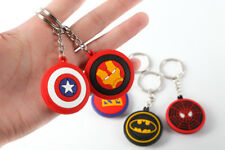 Keychain Super Heroes Ironman Spiderman Superman Batman Action Figure Movie Toys