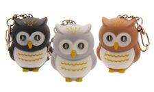 Hooting Owl LED Keyring Bright Torch Keychain With Owl Sound Choice Of Colour