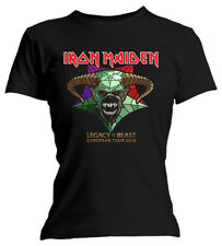 Ladies Iron Maiden Legacy of the Beast Tour  Official Tee T-Shirt Womens