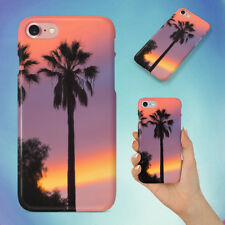 THREE PALM TREES SUNSET HARD BACK CASE FOR APPLE IPHONE PHONE