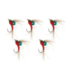 5Pcs Simulation Dry Nymphs Buzzers Fly Hooks of Trout Flies for Fly Fishing