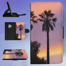 THREE PALM TREES SUNSET FLIP CASE COVER FOR SAMSUNG GALAXY PHONE