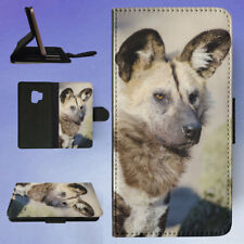 AFRICAN WILD DOG 1 FLIP CASE COVER FOR SAMSUNG GALAXY PHONE