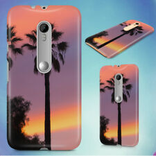 THREE PALM TREES SUNSET HARD BACK CASE FOR MOTOROLA PHONES