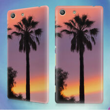THREE PALM TREES SUNSET HARD BACK CASE FOR SONY XPERIA PHONES